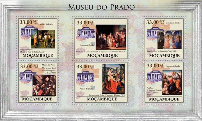 Prado Museum, (Paintings). - Issue of Mozambique postage Stamps