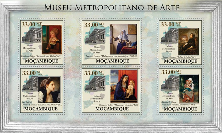 Metropolitan Museum of Art, (Paintings). - Issue of Mozambique postage Stamps