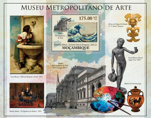 Metropolitan Museum of Art, (Paintings, Statues). - Issue of Mozambique postage Stamps