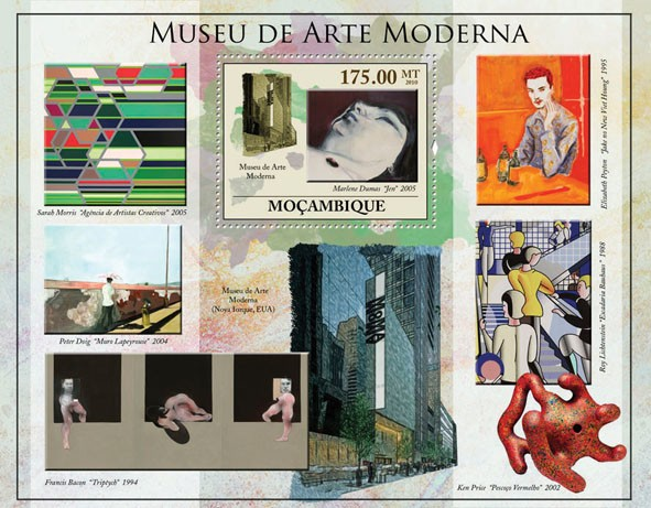 Museum of Modern Art, (Paintings). - Issue of Mozambique postage Stamps