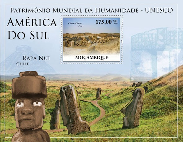 World Heritage Site - UNESCO South America II, (Chan Chan, Peru). - Issue of Mozambique postage Stamps
