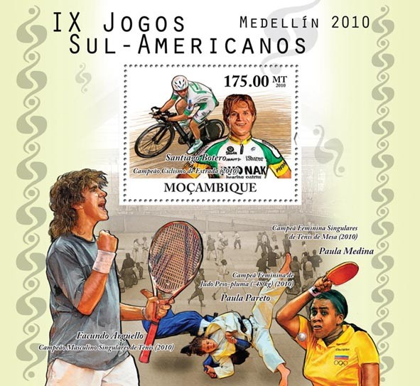 2010 South American Games - Issue of Mozambique postage Stamps