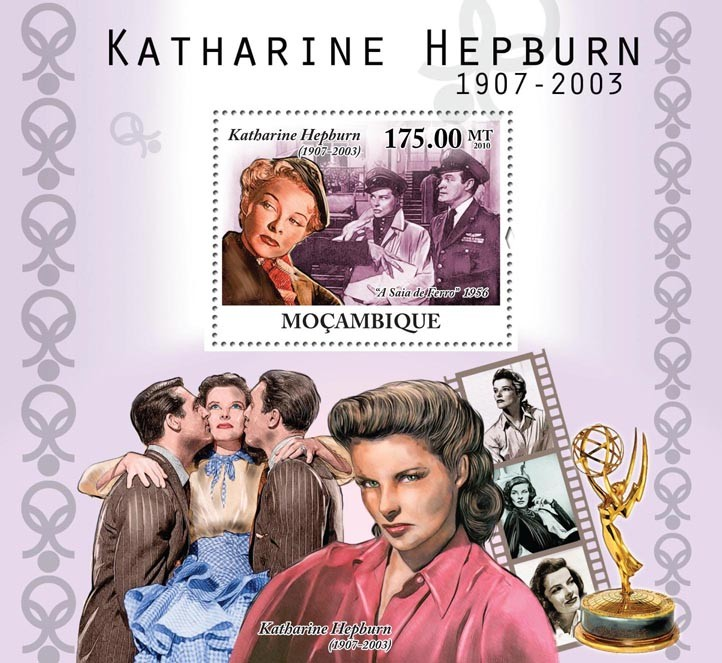 Actress Katherine Hepburn, (1907-2003). - Issue of Mozambique postage Stamps