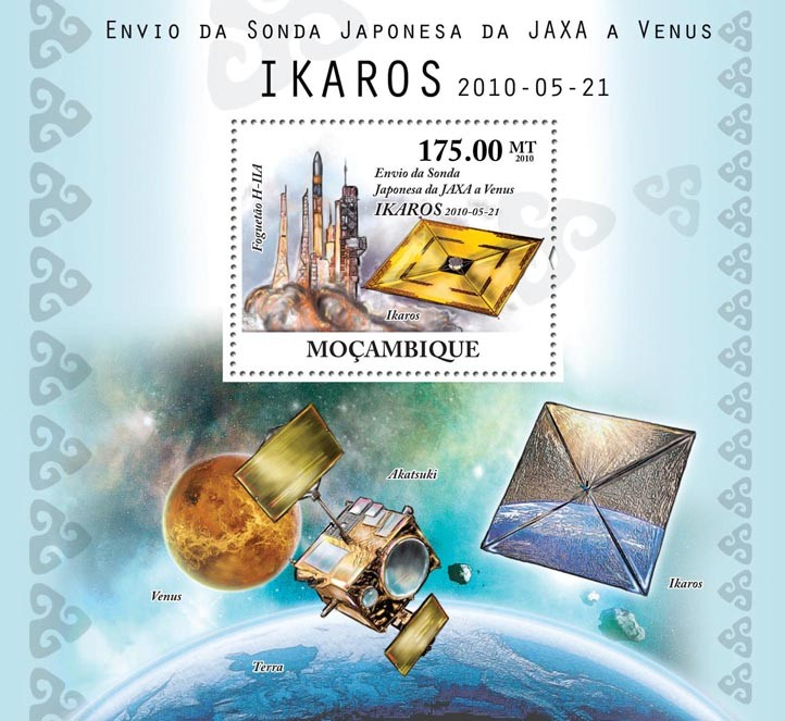 Japanese Jaxa & Probe to Venus - Issue of Mozambique postage Stamps