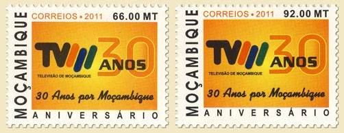 30th Anniversary Television in Mozambique - Issue of Mozambique postage Stamps