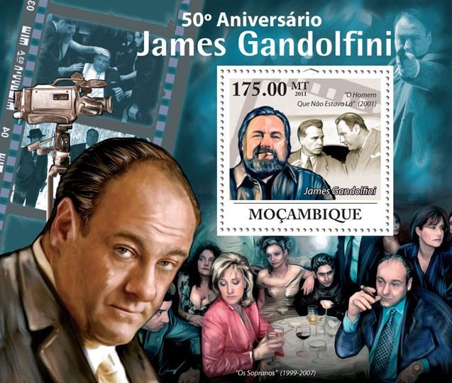 50th Anniversary of James Gandolfini, Cinema. - Issue of Mozambique postage Stamps
