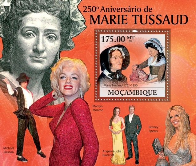 250th Anniversary of Marie Tussaud, (1761-1850). - Issue of Mozambique postage Stamps