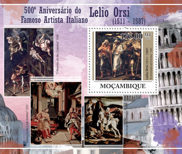 500th Anniversary of Lelio Orsi  (1511-1574), Paintings. - Issue of Mozambique postage Stamps