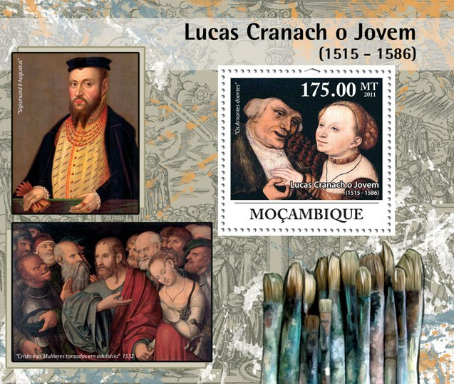 Lucas Cranach the Younger (1515-1586), Paintings. - Issue of Mozambique postage Stamps