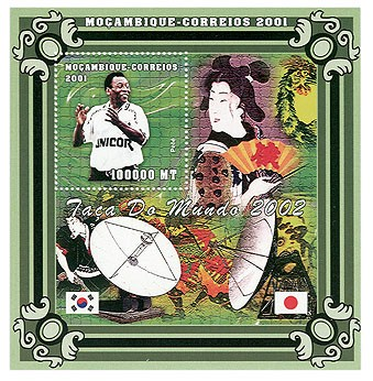 Football- Pele  (satellities) 100000 MT  S/S - Issue of Mozambique postage Stamps