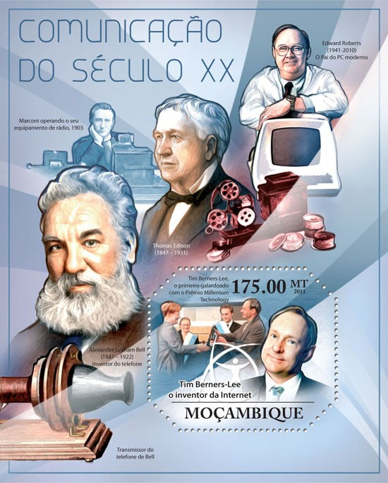 Communication of XX Century. - Issue of Mozambique postage Stamps