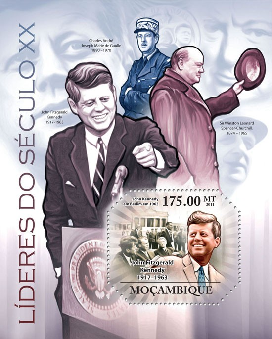 Leaders of XX Century I, ( J.F. Kennedy ). - Issue of Mozambique postage Stamps