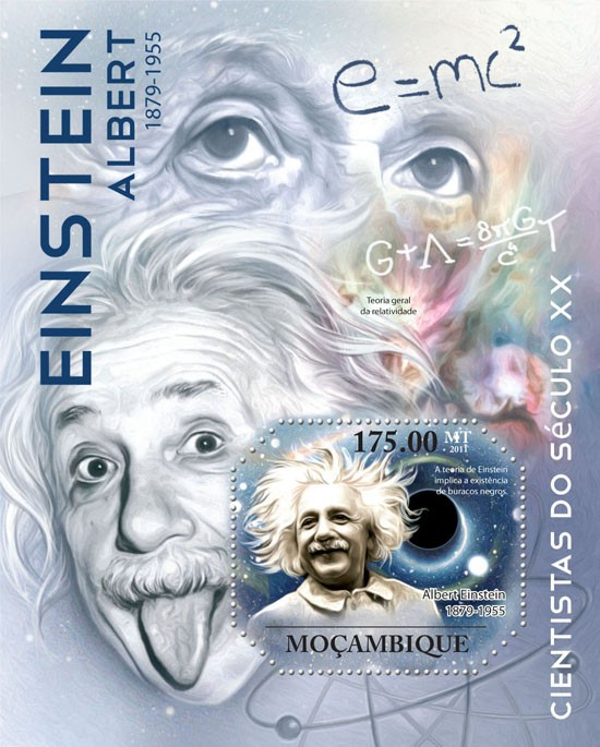 Albert Einstein ( 1879 - 1955 ). - Issue of Mozambique postage Stamps