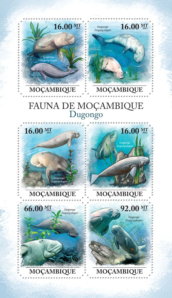 Dugongs, (Dugongo). - Issue of Mozambique postage Stamps