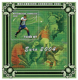 Rivaldo 75000 MT  S/S - Issue of Mozambique postage Stamps