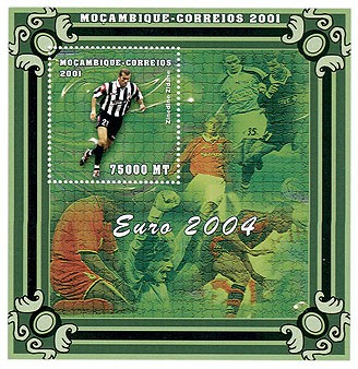 Z.Zidane  75000 MT  S/S - Issue of Mozambique postage Stamps