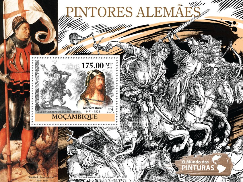 German Paintings, (Albrecht Durer). - Issue of Mozambique postage Stamps