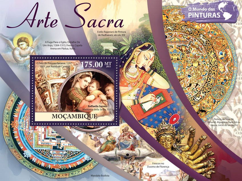Sacred Art, (Raffaello Sanzio). - Issue of Mozambique postage Stamps