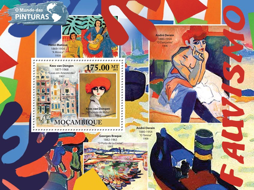 Fauvism, (Kees van Dongen). - Issue of Mozambique postage Stamps