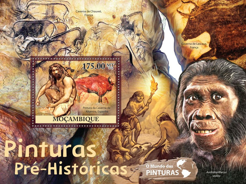 Prehistory Paintings.. - Issue of Mozambique postage Stamps