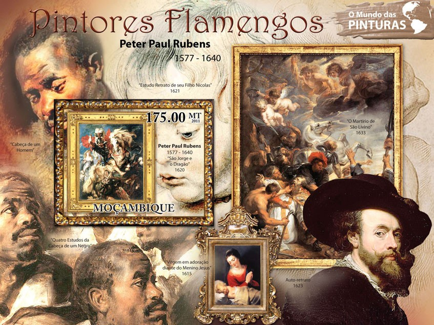 Flemish Paintings, (Peter Paul Rubens). - Issue of Mozambique postage Stamps