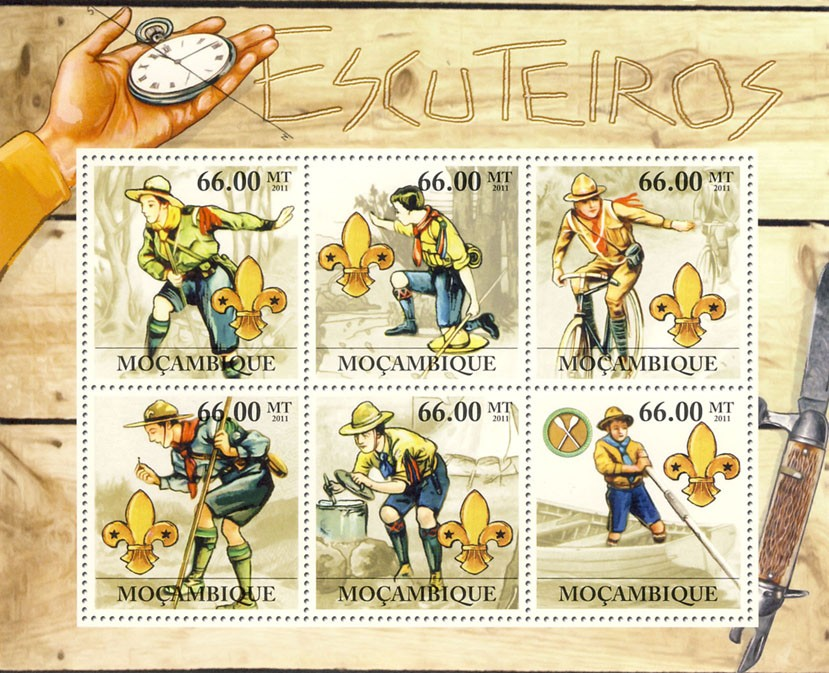 Scouts. - Issue of Mozambique postage Stamps