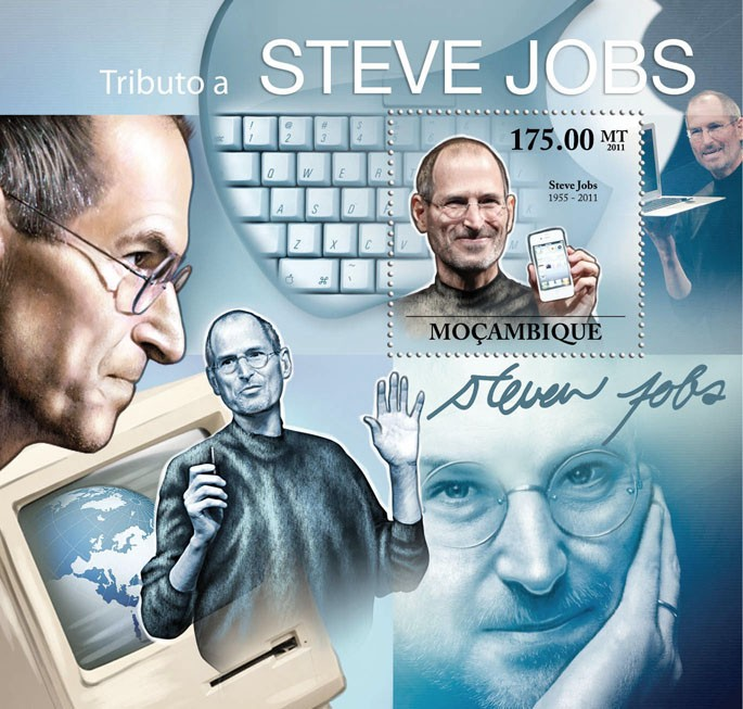 Tribute to Steve Jobs, (1955-2011). - Issue of Mozambique postage Stamps