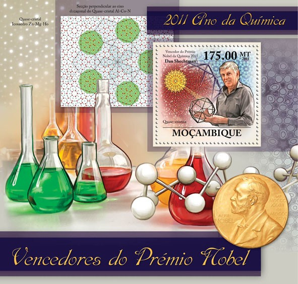 Nobel Prize Winners, (Dan Shechtman). - Issue of Mozambique postage Stamps