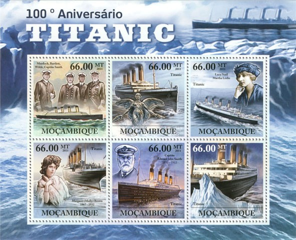 100th Anniversary of Titanic. - Issue of Mozambique postage Stamps