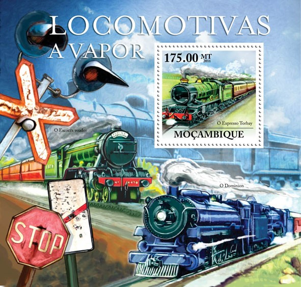 Steam Locomotives, (Express Torbay). - Issue of Mozambique postage Stamps