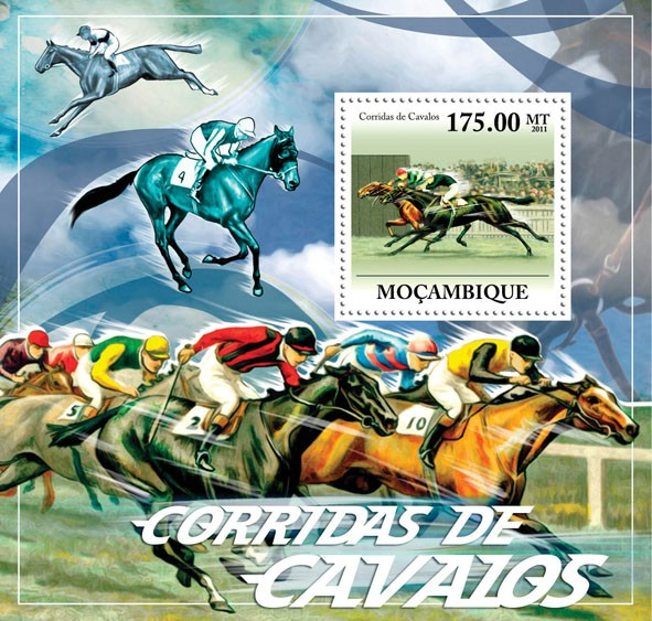 Horse Racing. - Issue of Mozambique postage Stamps