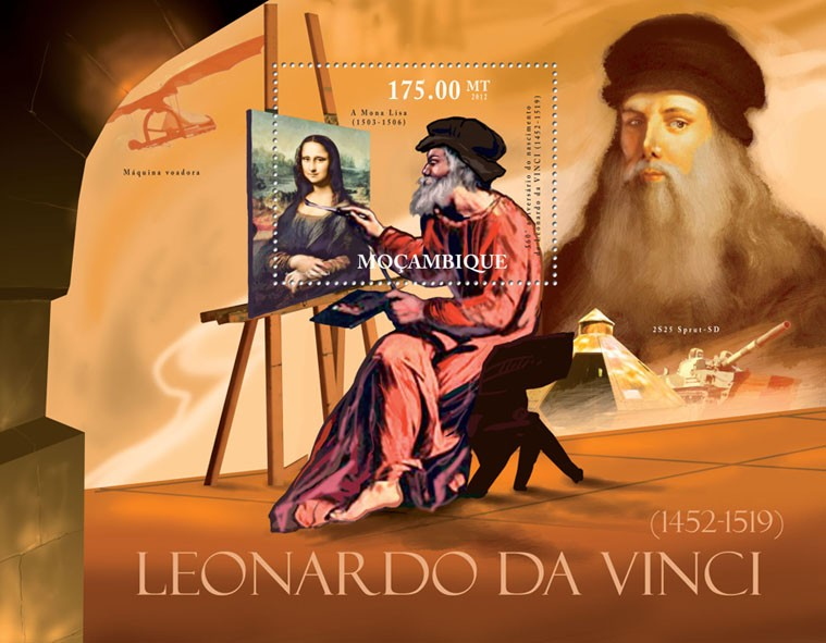Leonardo Da Vinci, (1452-1519). - Issue of Mozambique postage Stamps