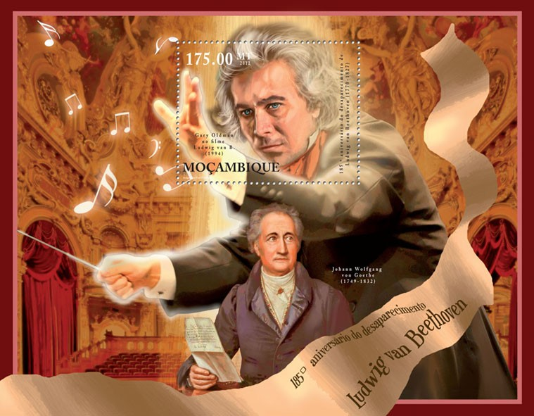 Ludwig Van Beethoven, (180th Anniversary of Death). - Issue of Mozambique postage Stamps