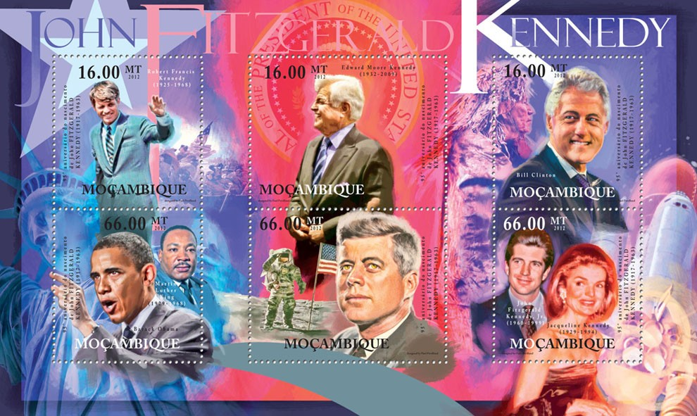 John Fitzgerald Kennedy, (1917-1963). - Issue of Mozambique postage Stamps