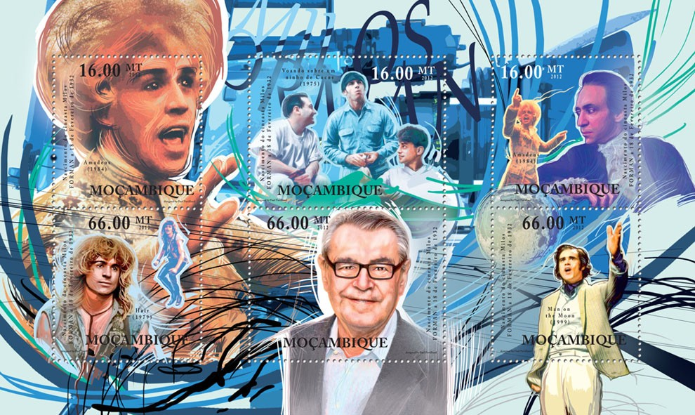Milos Forman, Cinema. - Issue of Mozambique postage Stamps