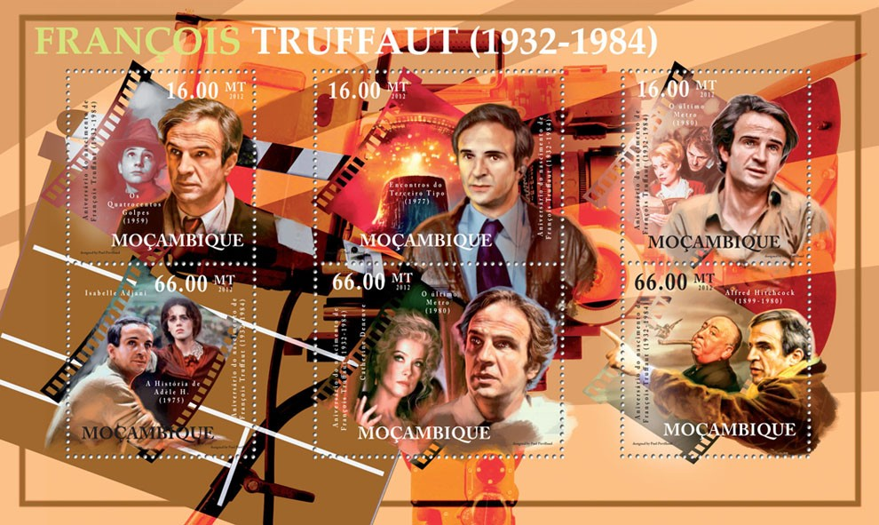 Francois Truffaunt, (1932-1984), French Cinema. - Issue of Mozambique postage Stamps
