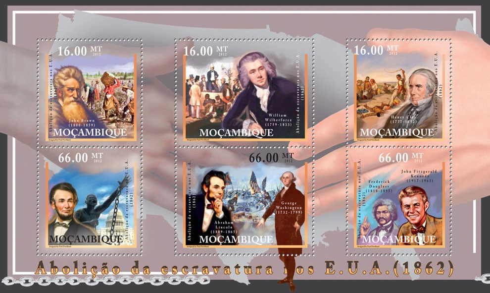 Abolition of Slavery in USA, 1862. - Issue of Mozambique postage Stamps