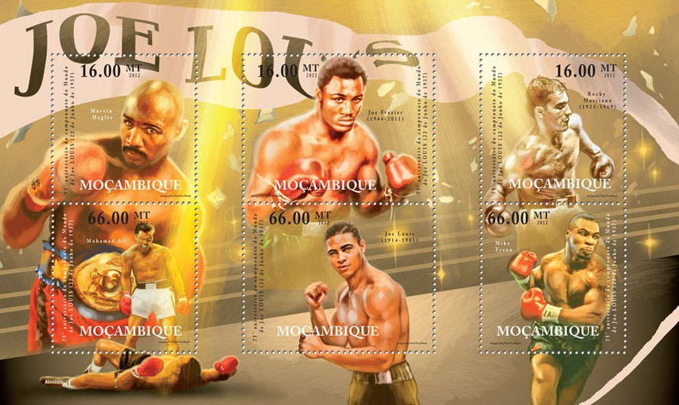 Joe Louis, (1944-2011) Boxing. - Issue of Mozambique postage Stamps