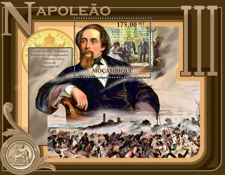 Charles Louis - Napoleon III, Paintings. - Issue of Mozambique postage Stamps