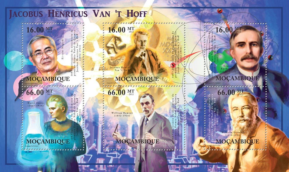 Jacobus Henricus Van Hoff, ( 1852 - 1911), Discoveries. - Issue of Mozambique postage Stamps