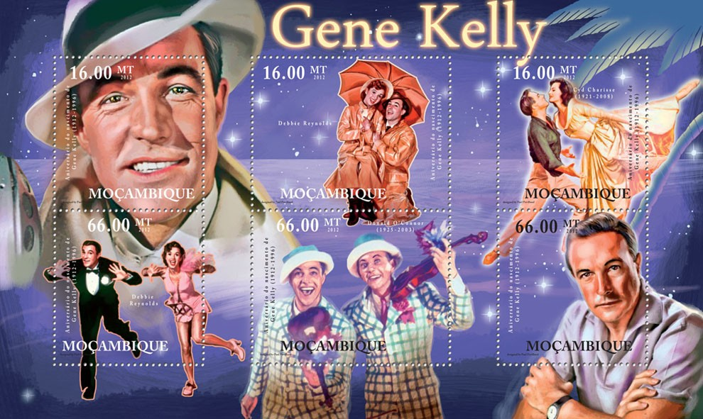 Gene Kelly, (1912-1996), Dancing. - Issue of Mozambique postage Stamps