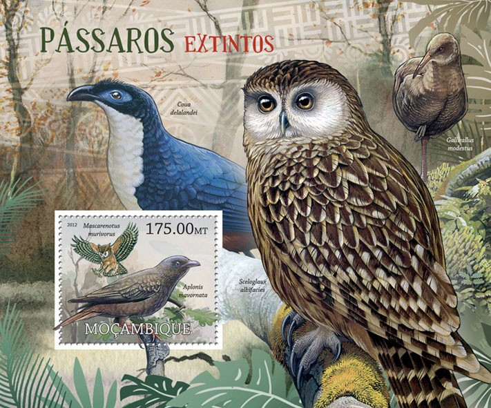 Birds - Issue of Mozambique postage Stamps