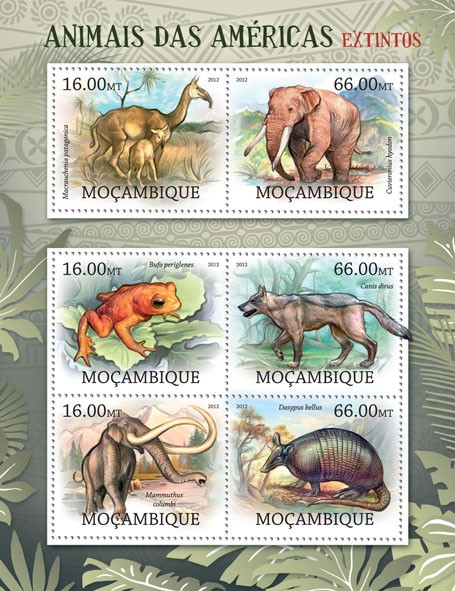 Animals - Issue of Mozambique postage Stamps