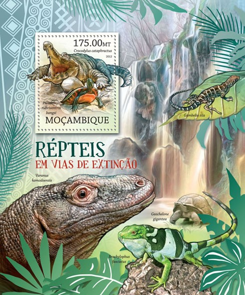 Reptiles - Issue of Mozambique postage Stamps