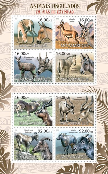 Ungulates - Issue of Mozambique postage Stamps