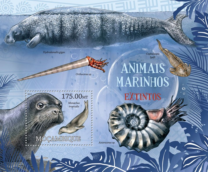Marine Animals - Issue of Mozambique postage Stamps
