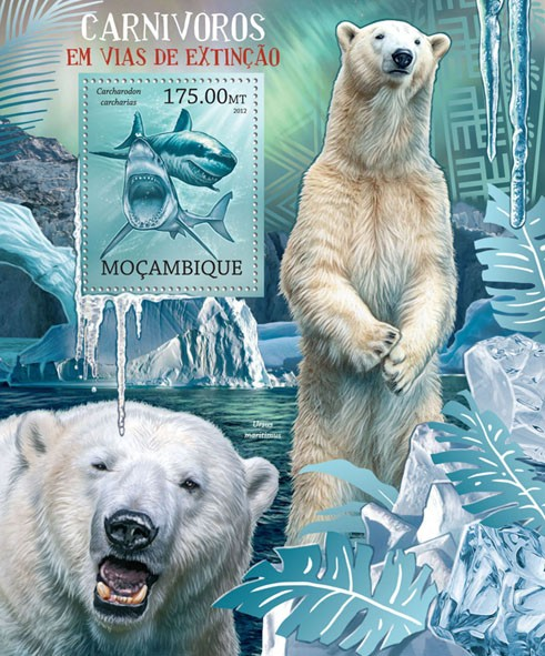 Carnivores - Issue of Mozambique postage Stamps