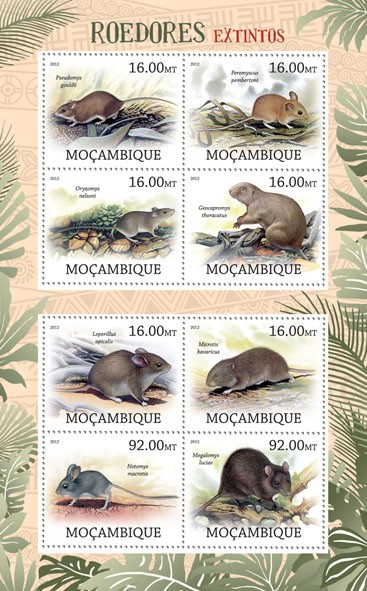Rodents - Issue of Mozambique postage Stamps