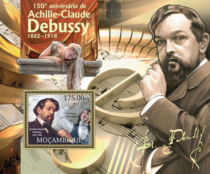 A.-C. Debussy  - Issue of Mozambique postage Stamps