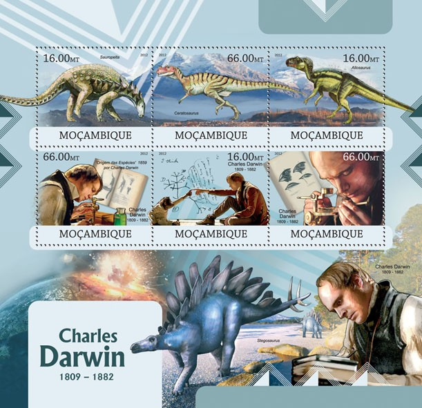 Charles Darwin - Issue of Mozambique postage Stamps
